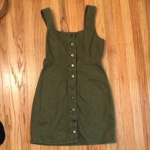 Urban Outfitters Corduroy button-down mini dress